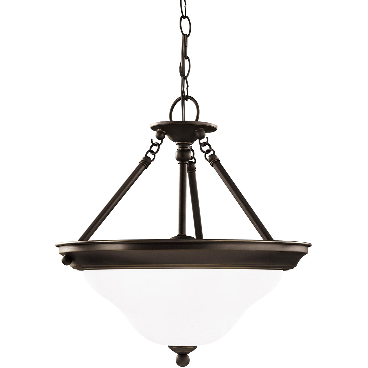 Sea Gull Lighting Sussex 3 Light Pendant in Heirloom Bronze 66062-782