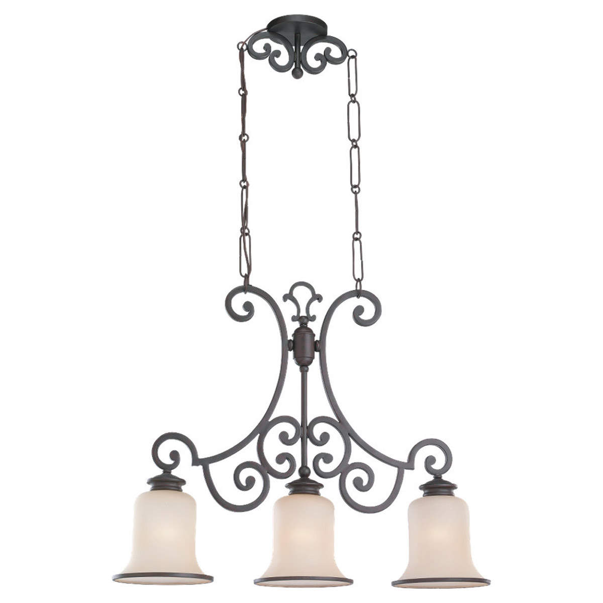 Sea Gull Lighting Acadia 3 Light Billiard Pendant in Misted Bronze 66145BLE-814