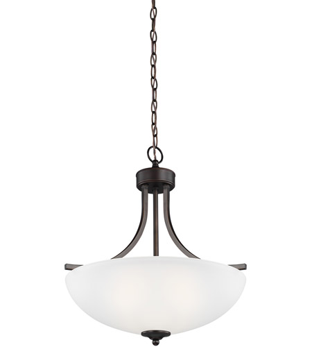 Sea Gull 6616503-710 Geary 3 Light 19 inch Burnt Sienna Pendant Ceiling Light photo