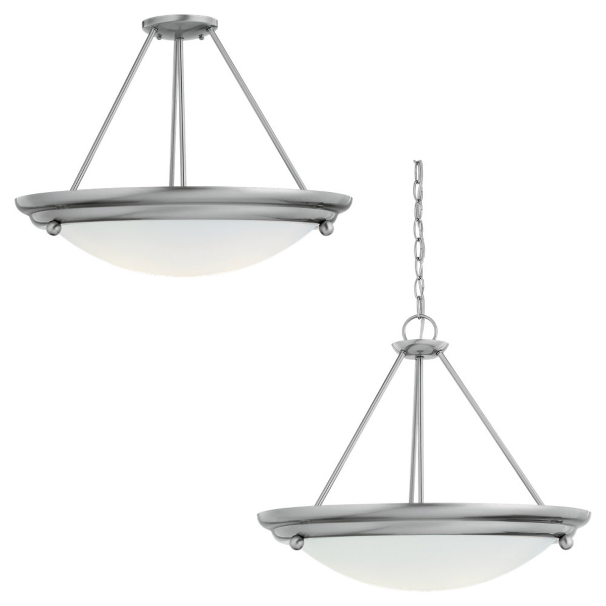 Sea Gull Lighting Centra 4 Light Pendant Convertible in Brushed Stainless 66238-98 photo