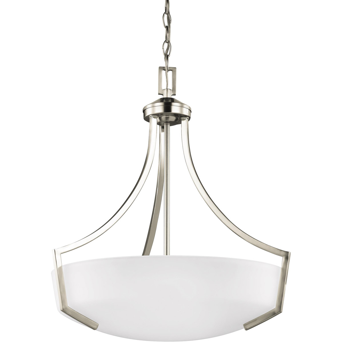 Sea Gull 6624503-962 Hanford 3 Light 21 inch Brushed Nickel Pendant Ceiling Light photo
