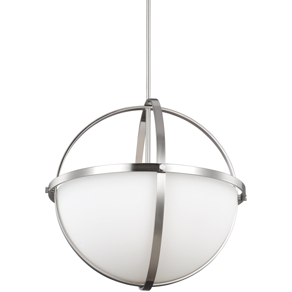 Sea Gull 6624603-962 Alturas 3 Light 19 inch Brushed Nickel Pendant Ceiling Light photo