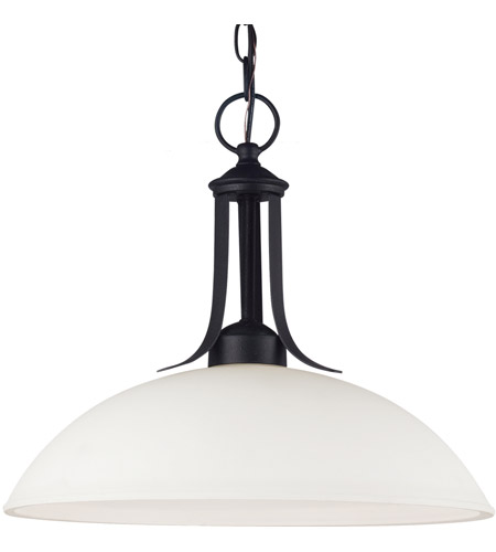 Sea Gull Lighting Uptown Fluorescent 1 Light Pendant in Blacksmith 66270BLE-839 photo