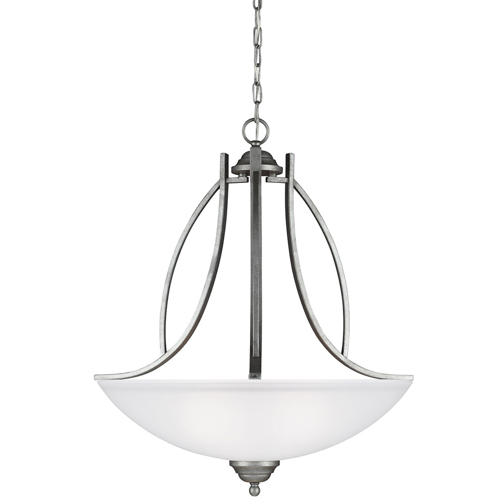 Sea Gull 6631403-57 Vitelli 3 Light 25 inch Weathered Pewter Pendant Ceiling Light in Standard photo