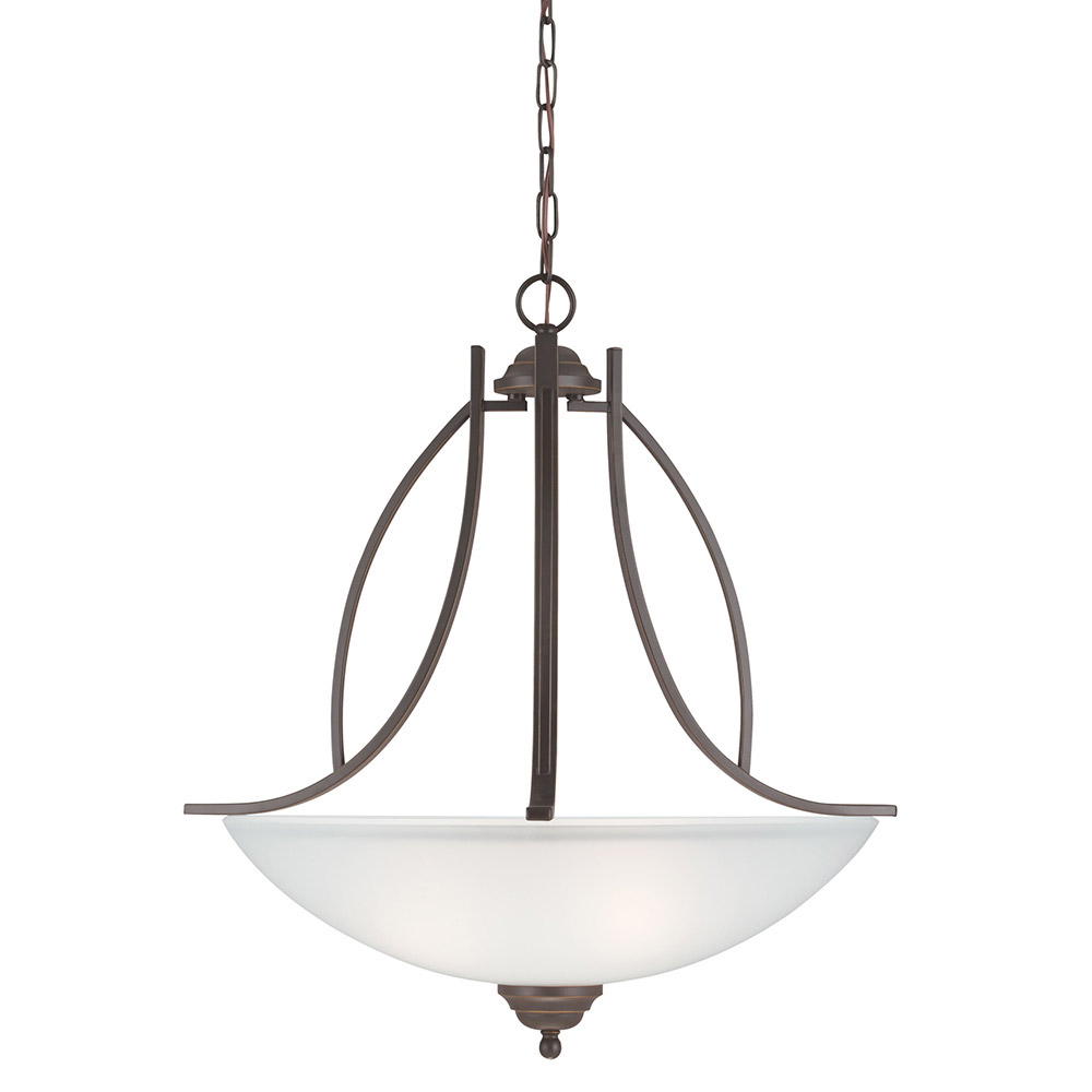 Sea Gull Vitelli 3 Light Pendant in Autumn Bronze 6631403-715