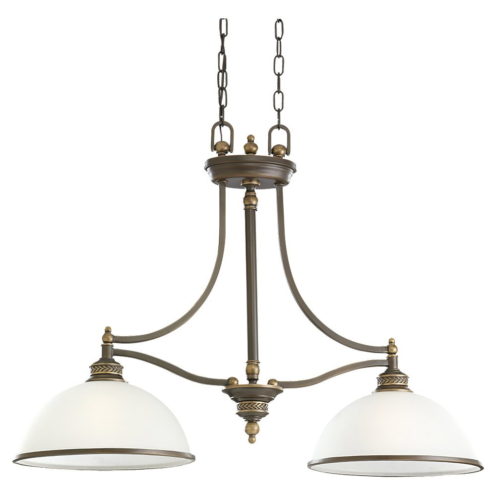 Sea Gull Lighting Laurel Leaf 2 Light Pendant in Estate Bronze 66350-708