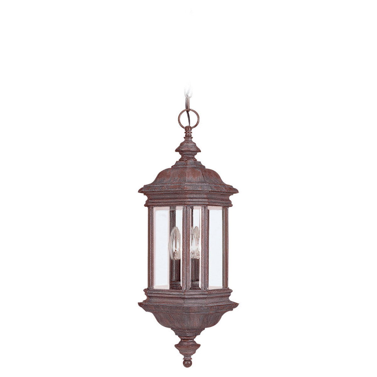 Sea Gull Lighting Hill Gate 3 Light Outdoor Pendant in Textured Rust Patina 6637-08