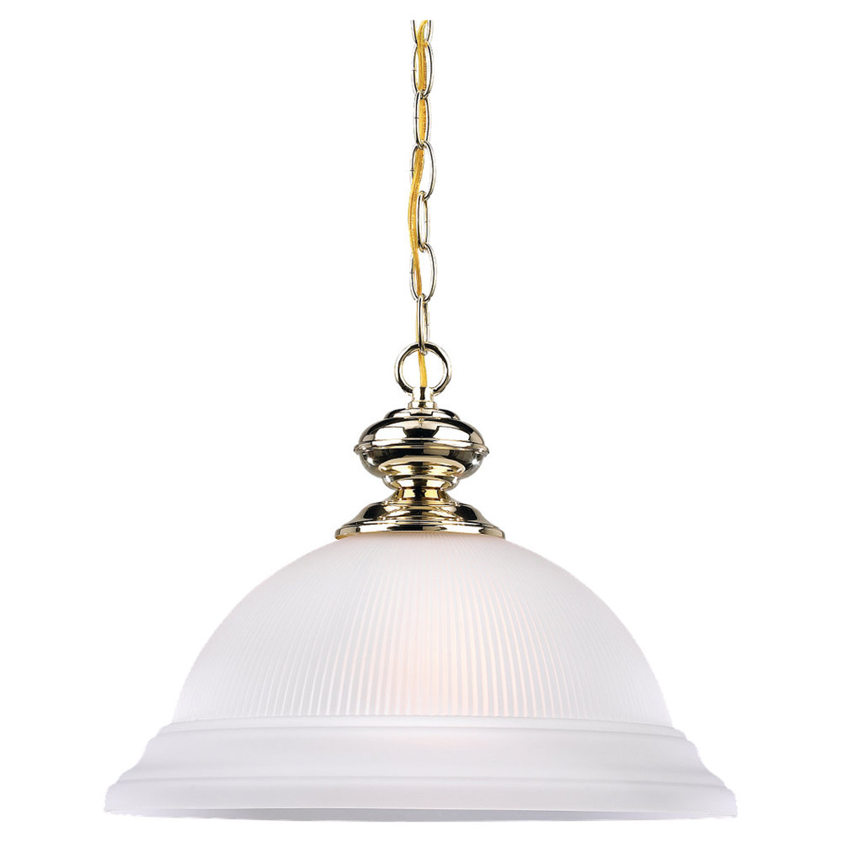 Sea Gull Lighting Mullica Hill 1 Light Pendant in Polished Brass 6640-02