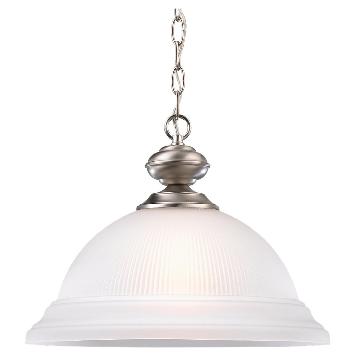 Sea Gull Lighting Mullica Hill 1 Light Pendant in Brushed Nickel 6640-962 photo