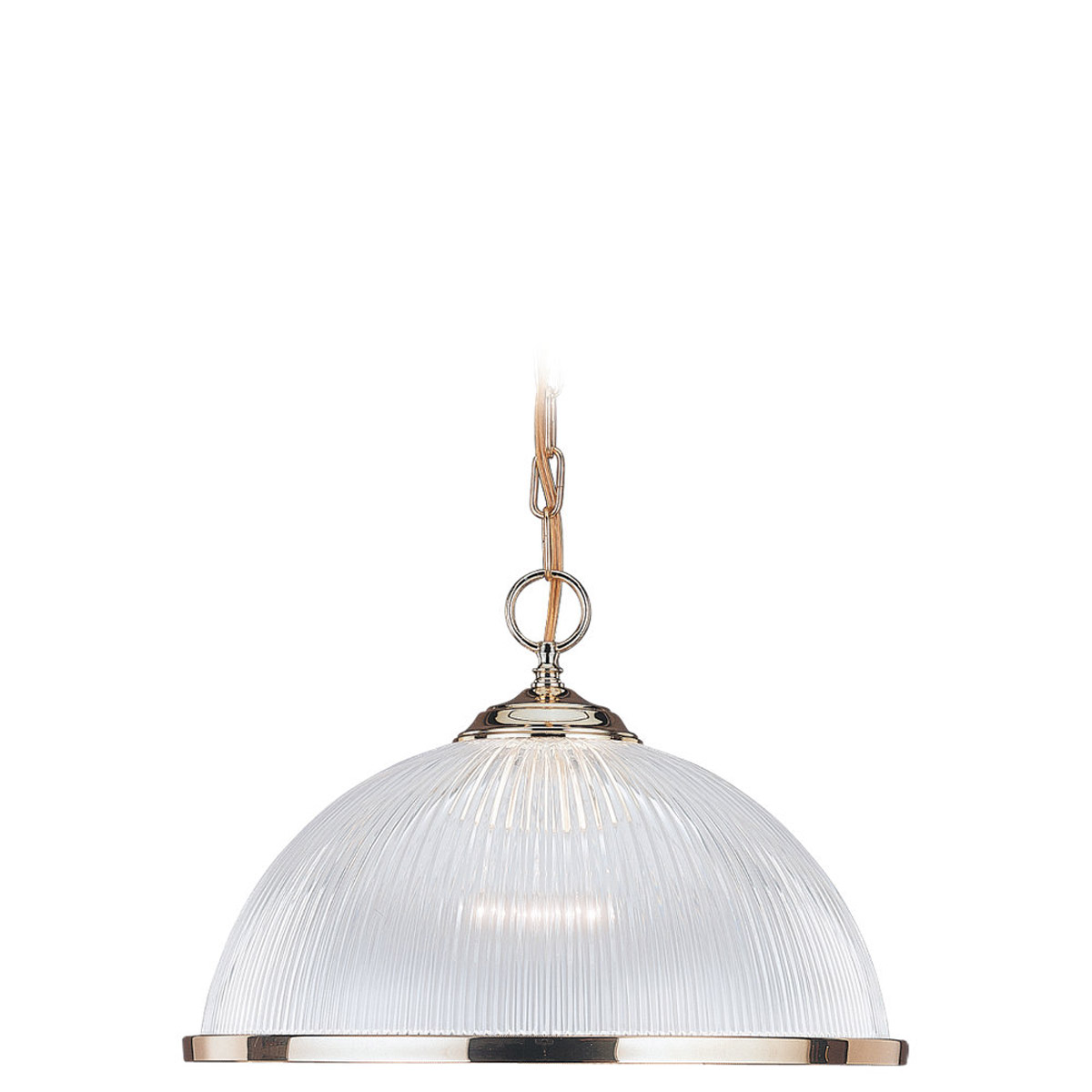 Sea Gull Lighting Signature 1 Light Pendant in Polished Brass 6641-02
