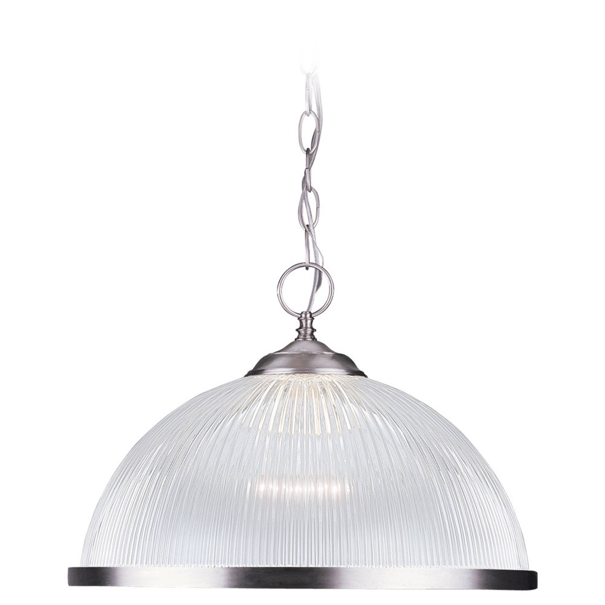 Sea Gull 6641-962 Signature 1 Light 16 inch Brushed Nickel Pendant Ceiling Light photo