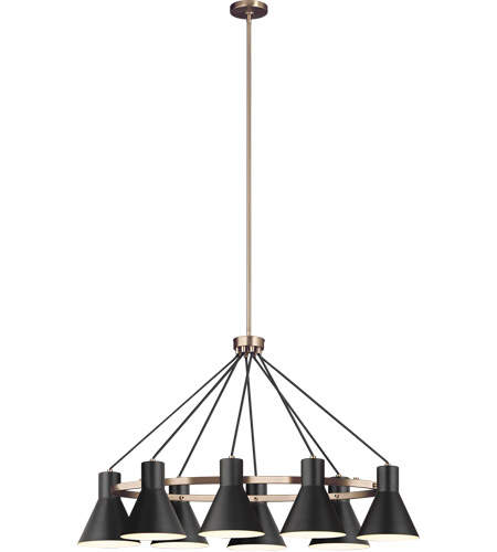 Sea Gull 6641308EN3-848 Towner 8 Light 25 inch Satin Bronze Pendant Ceiling Light photo