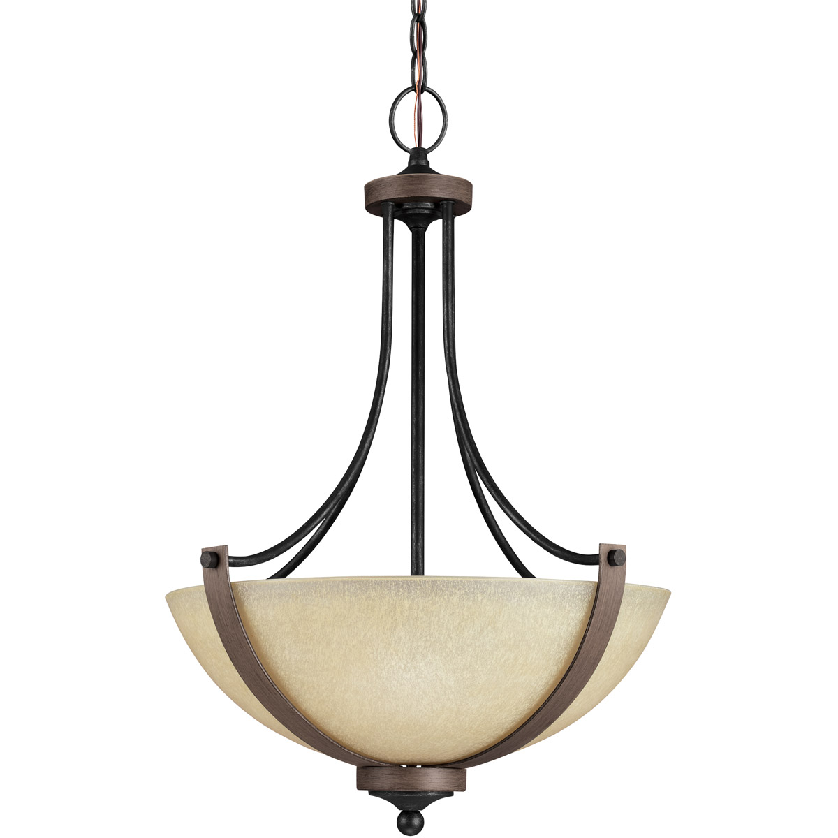Sea Gull Corbeille 3 Light Pendant in Stardust / Cerused Oak 6680403BLE-846