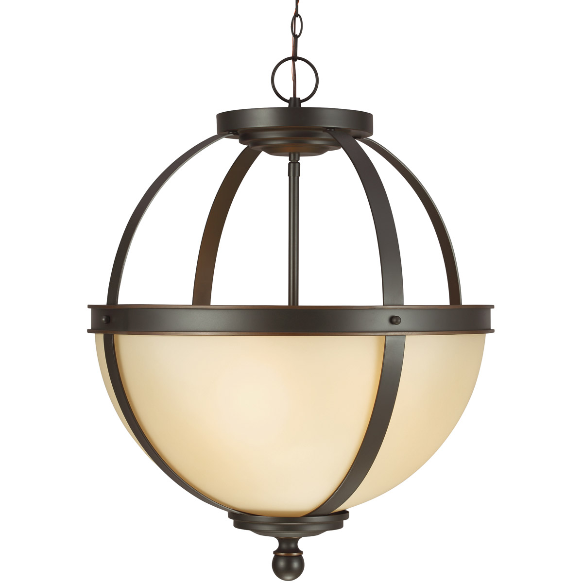Sea Gull Sfera 3 Light Pendant in Autumn Bronze 6690403BLE-715