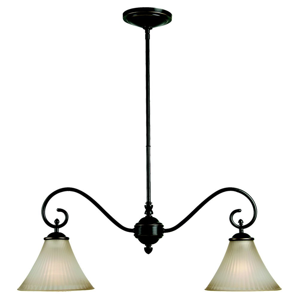 Sea Gull Lighting Joliet 2 Light Island Pendant in Heirloom Bronze 66935-782