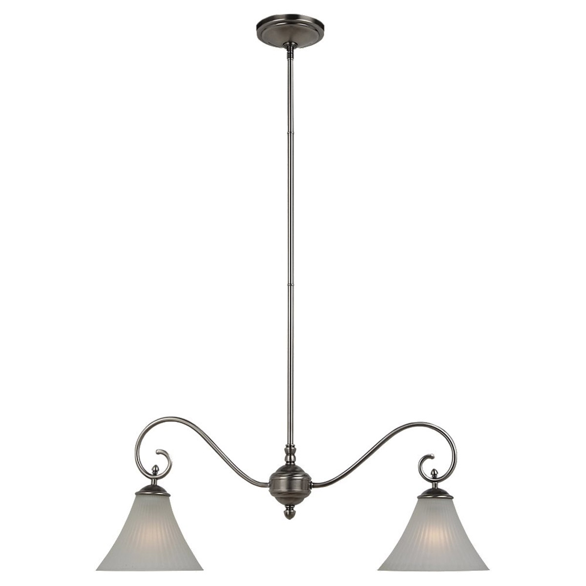 Sea Gull Lighting Joliet 2 Light Island Pendant in Antique Brushed Nickel 66935-965