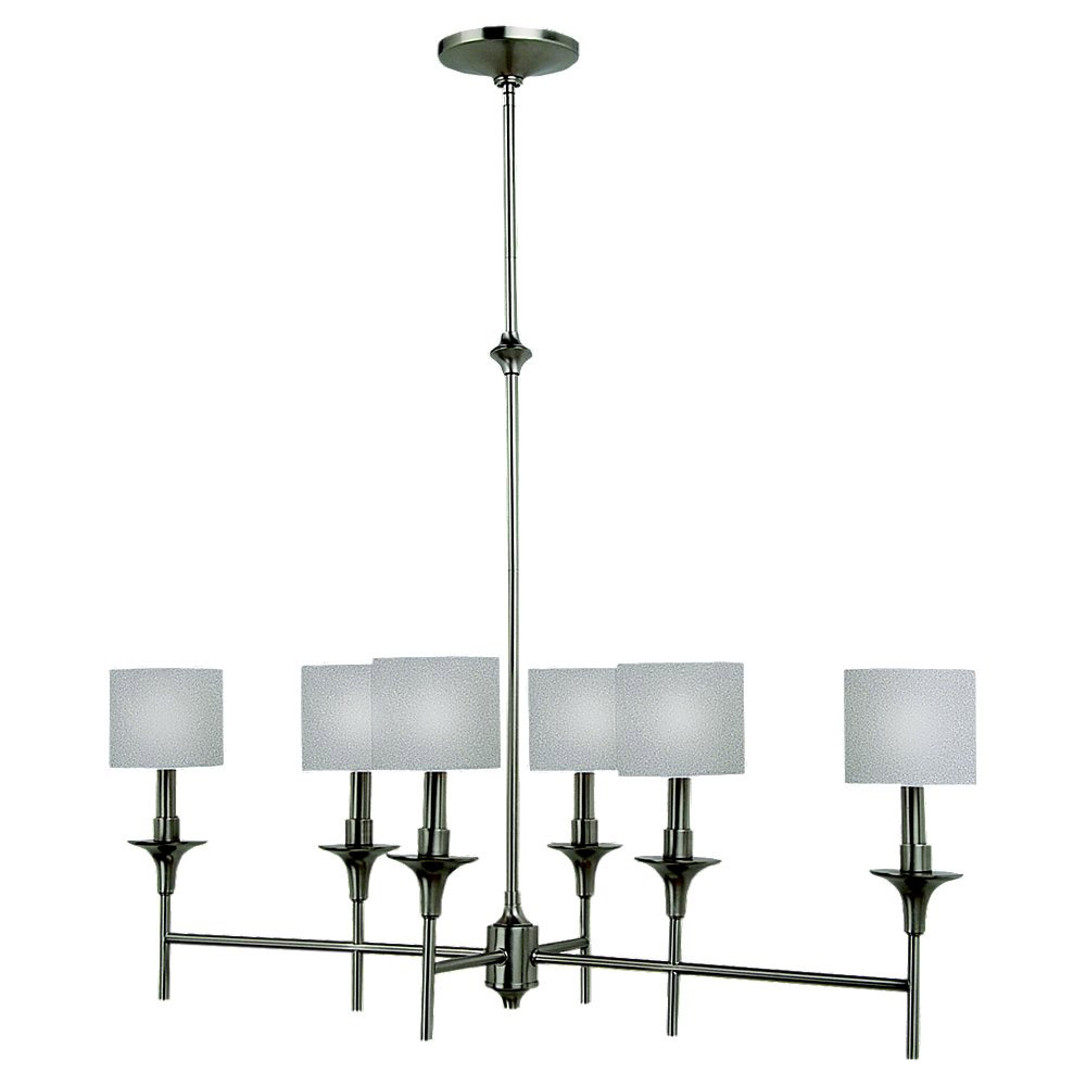 Sea Gull Lighting Stirling 6 Light Island Pendant in Brushed Nickel 66953-962