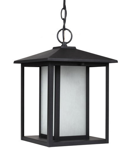 Sea Gull Lighting Hunnington Fluorescent 1 Light Outdoor Pendant in Black 69029BLE-12 photo