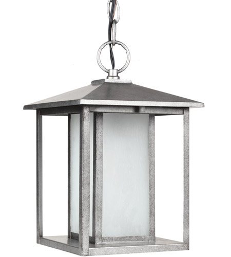 Sea Gull Lighting Hunnington Fluorescent 1 Light Outdoor Pendant in Weathered Pewter 69029BLE-57