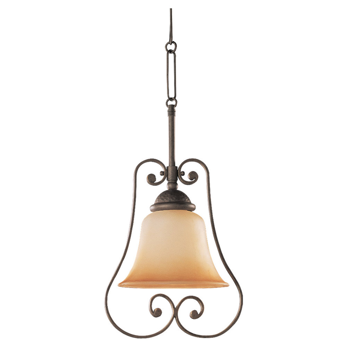 Sea Gull Lighting Brandywine 1 Light Mini Pendant in Antique Bronze 69031BLE-71