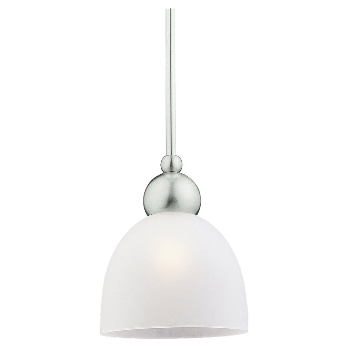Sea Gull Lighting Metropolis 1 Light Mini Pendant in Brushed Nickel 69034BLE-962