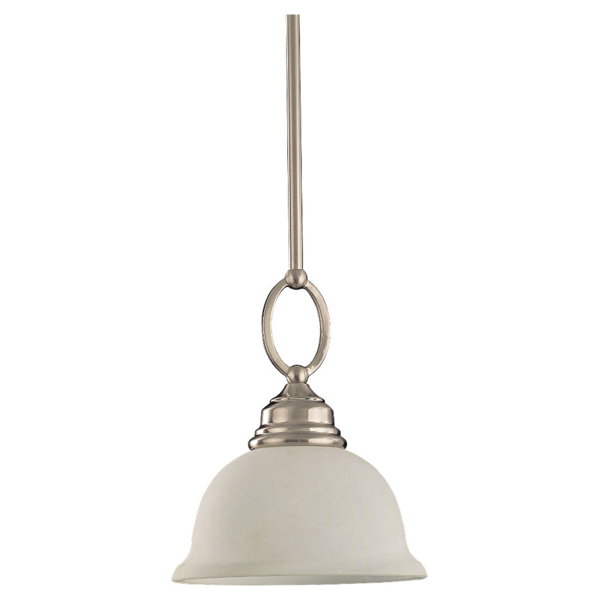 Sea Gull Lighting Serenity 1 Light Mini Pendant in Brushed Nickel 69059BLE-962 photo