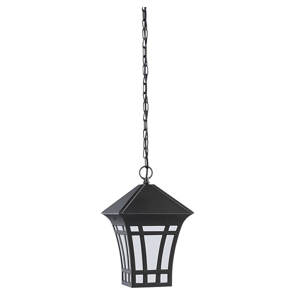 Sea Gull Lighting Herrington 1 Light Outdoor Pendant in Black 69131BLE-12