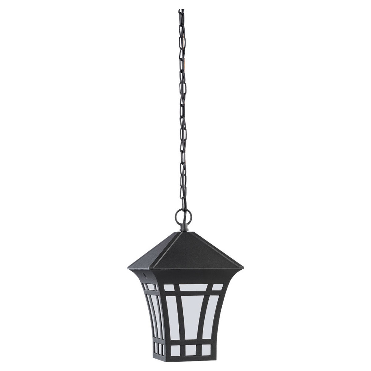Sea Gull Lighting Herrington 1 Light Outdoor Pendant in Black 69131PBLE-12 photo