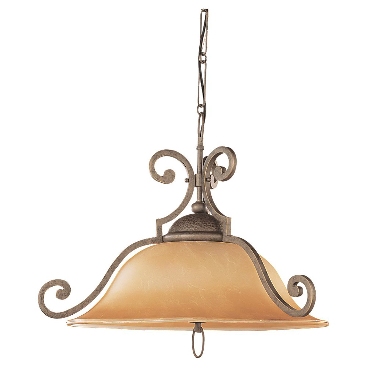 Sea Gull Lighting Brandywine 1 Light Fluorescent Pendant in Antique Bronze 69132BLE-71