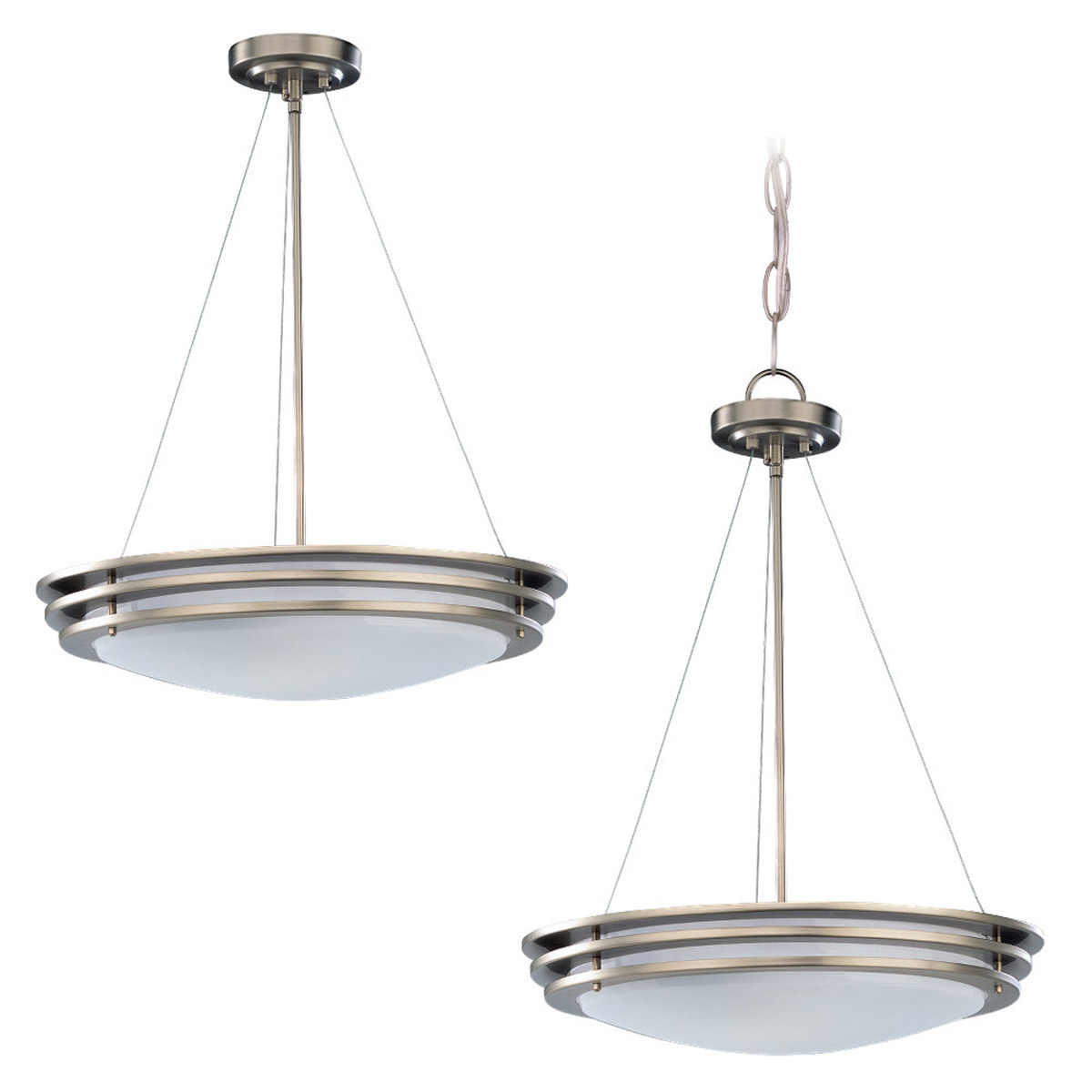 Sea Gull Lighting Nexus 2 Light Pendant in Brushed Nickel 69152BLE-962