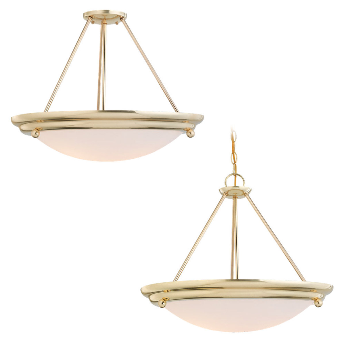 Sea Gull Lighting Centra 4 Light Fluorescent Semi-Flush Mount in Polished Brass 69238BLE-02 photo