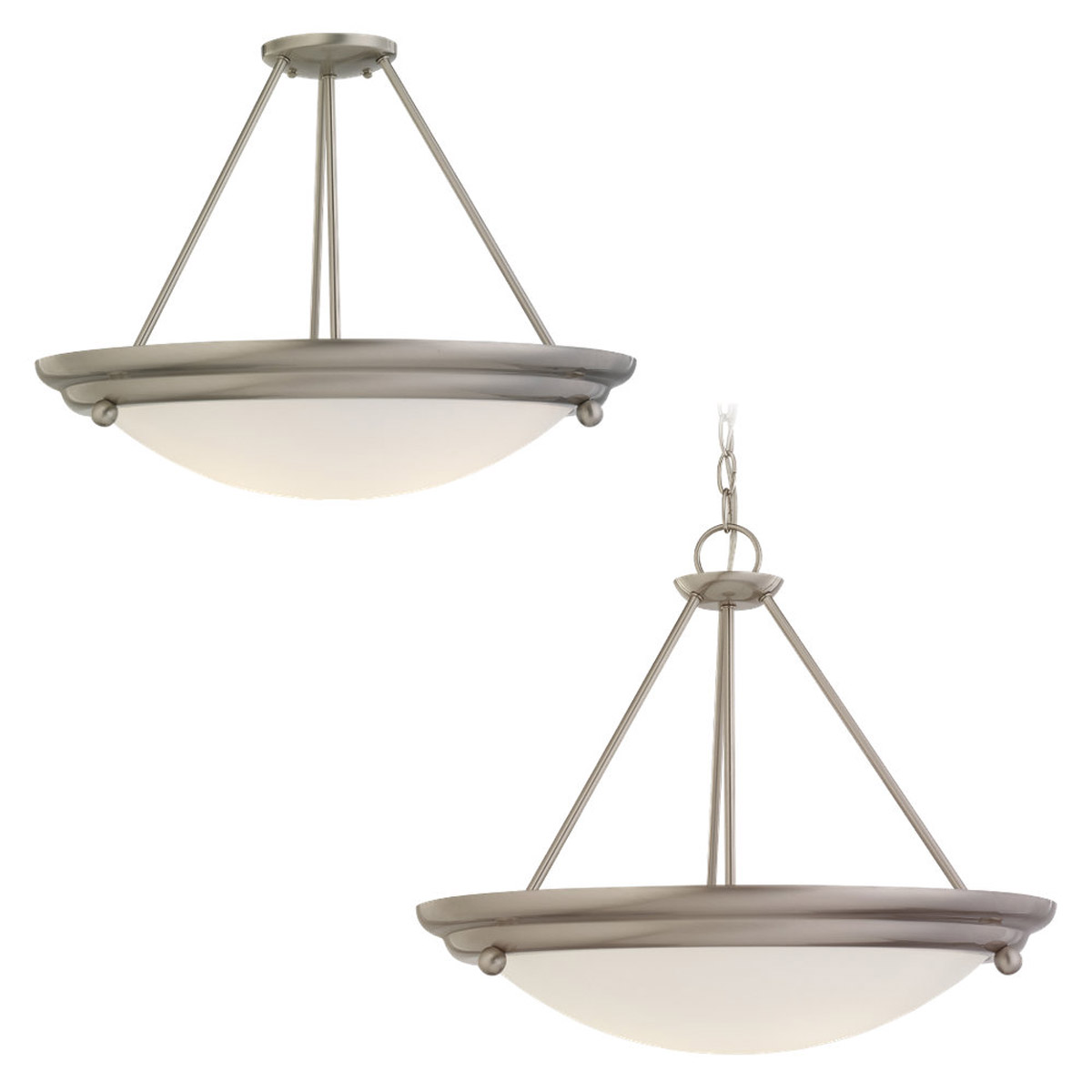Sea Gull Lighting Centra 4 Light Pendant Convertible in Brushed Stainless 69238BLE-98