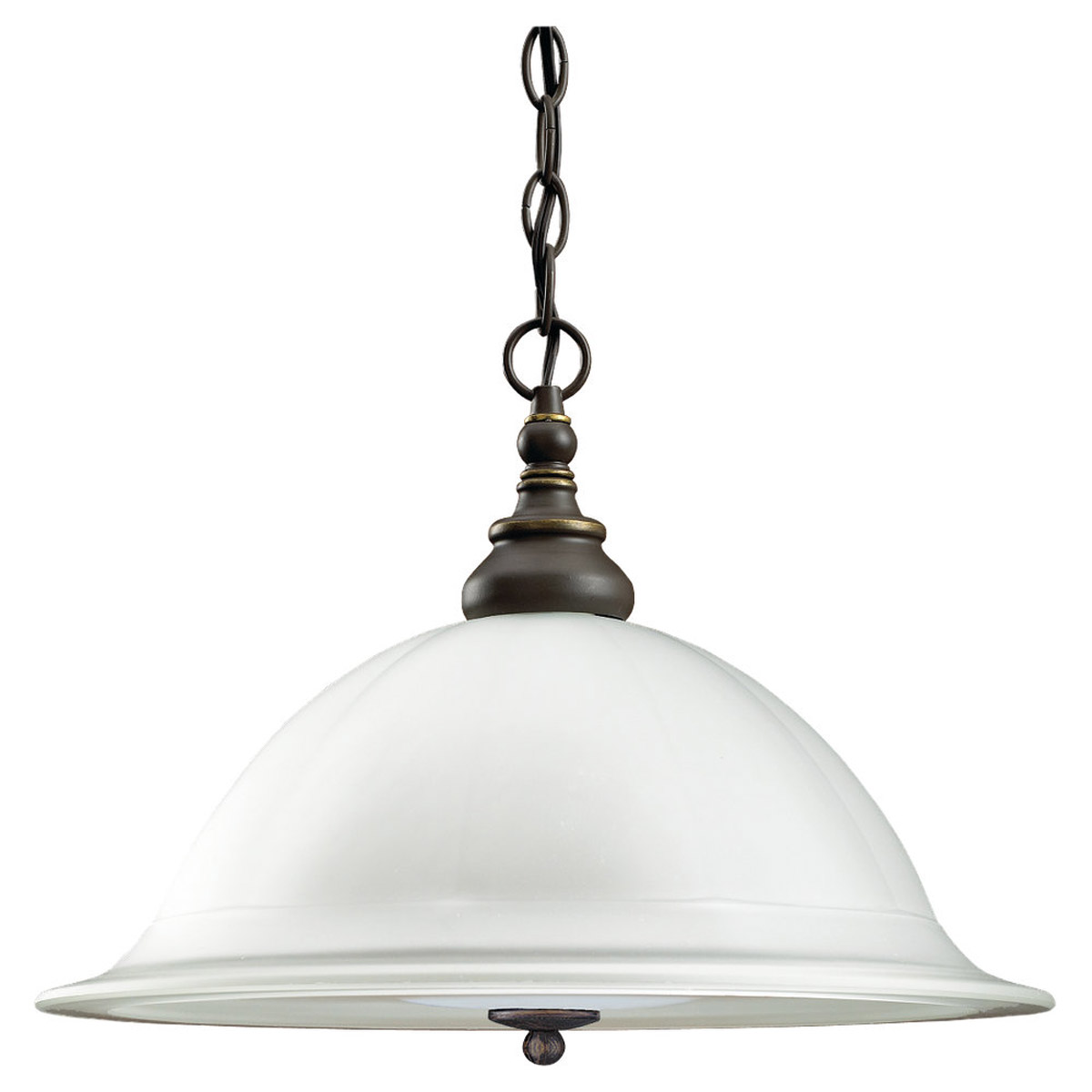 Sea Gull Lighting Canterbury 1 Light Fluorescent Pendant in Antique Bronze 69250BLE-71