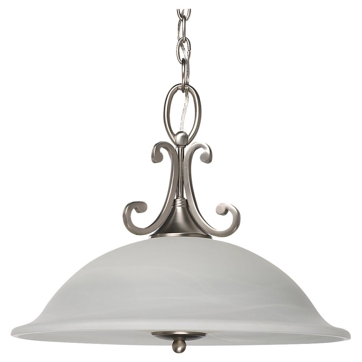 Sea Gull Lighting Serenity 1 Light Fluorescent Pendant in Brushed Nickel 69260BLE-962