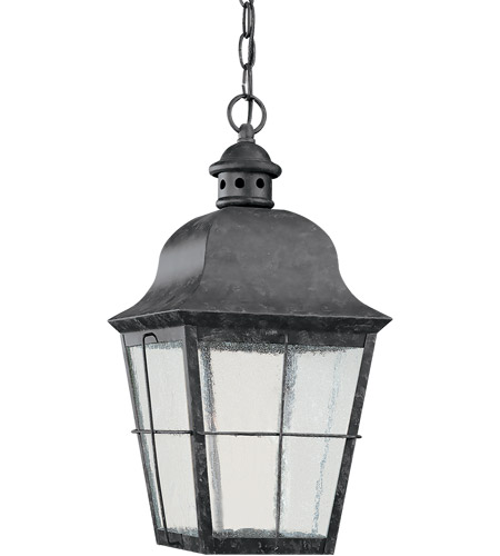 Sea Gull Lighting Chatham 1 Light Outdoor Pendant in Weathered Copper 69272BLE-44 photo