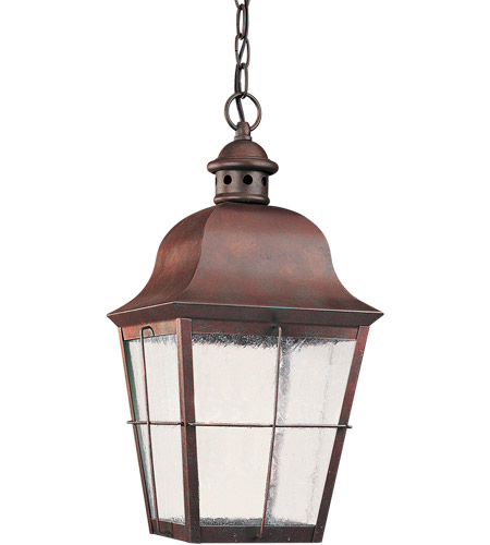 Sea Gull Lighting Chatham 1 Light Outdoor Pendant in Oxidized Bronze 69272BLE-46 photo