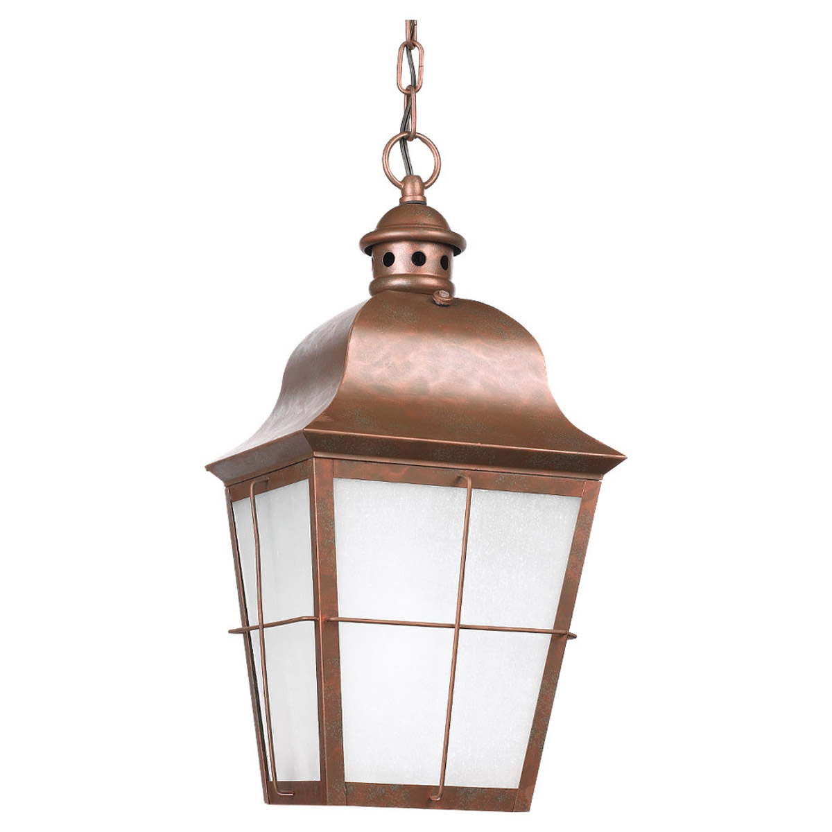 Sea Gull Lighting Chatham 1 Light Outdoor Pendant in Weathered Copper 69272PBLE-44