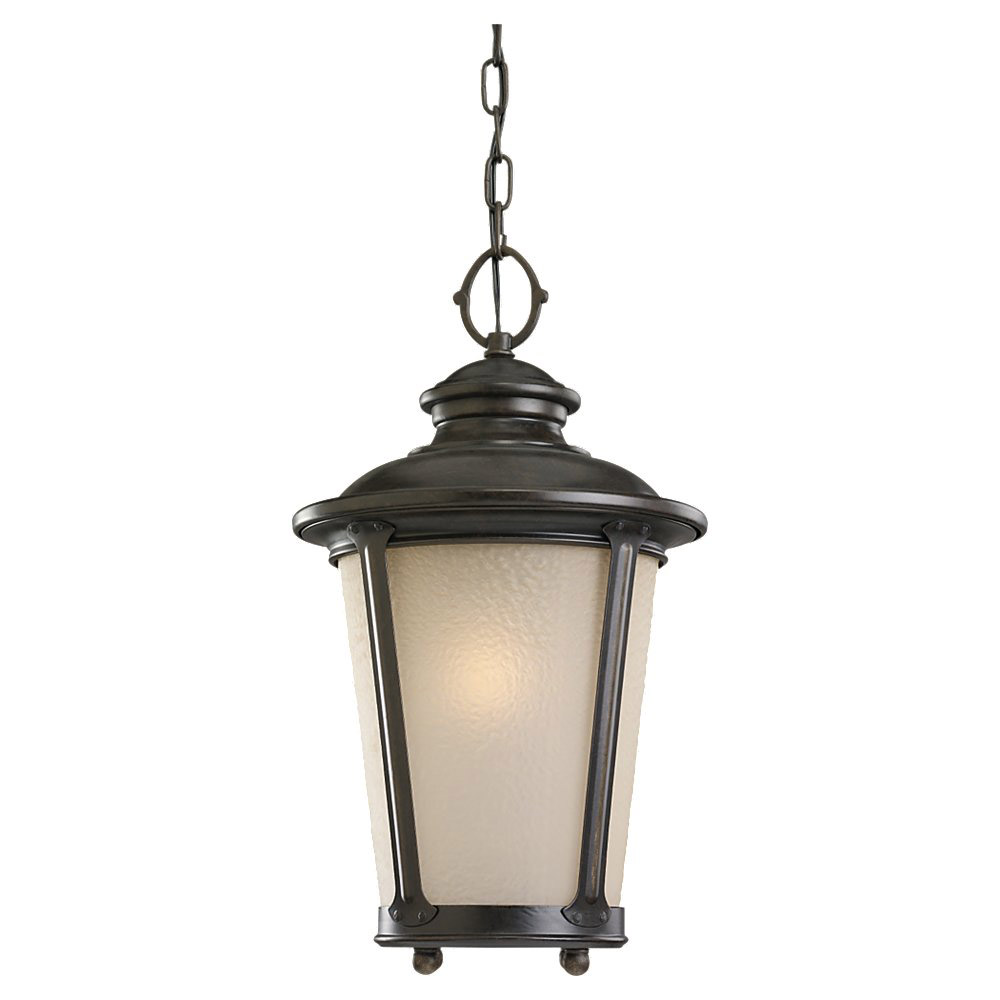 Sea Gull Lighting Cape May 1 Light Outdoor Pendant in Burled Iron 69340BLE-780