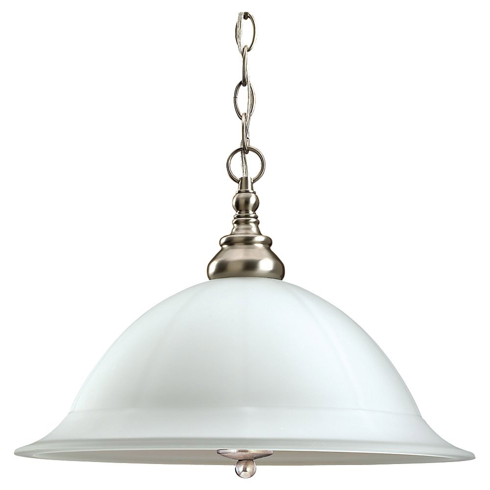 Sea Gull Lighting Canterbury 3 Light Pendant Down Light in Brushed Nickel 69350BLE-962 photo