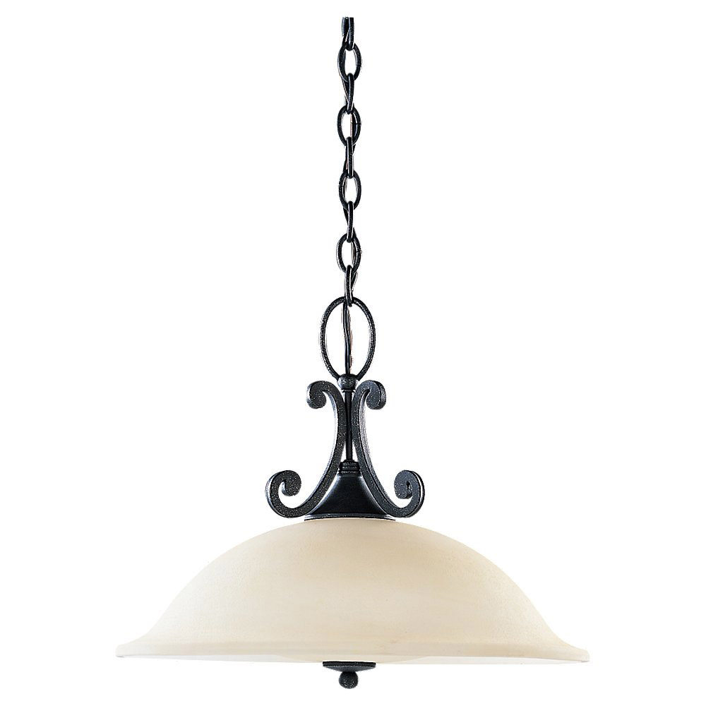 Sea Gull Lighting Serenity 3 Light Pendant Down Light in Weathered Iron 69360BLE-07 photo