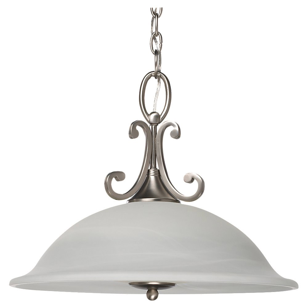 Sea Gull Lighting Serenity 3 Light Pendant Down Light in Brushed Nickel 69360BLE-962