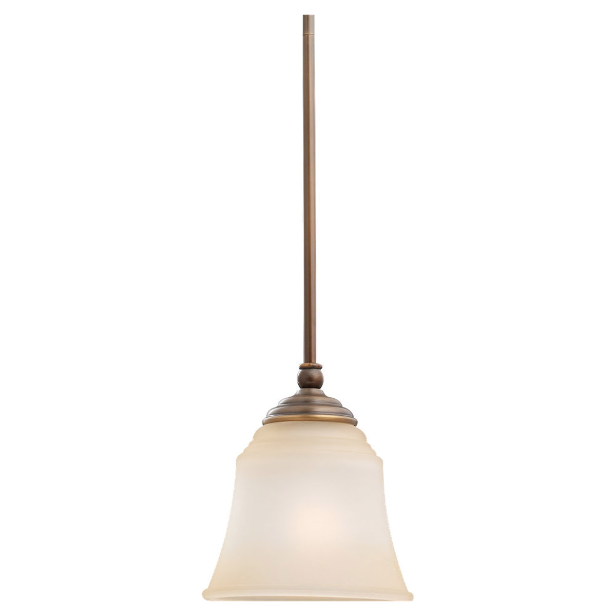Sea Gull Lighting Parkview 1 Light Mini Pendant in Russet Bronze 69380BLE-829