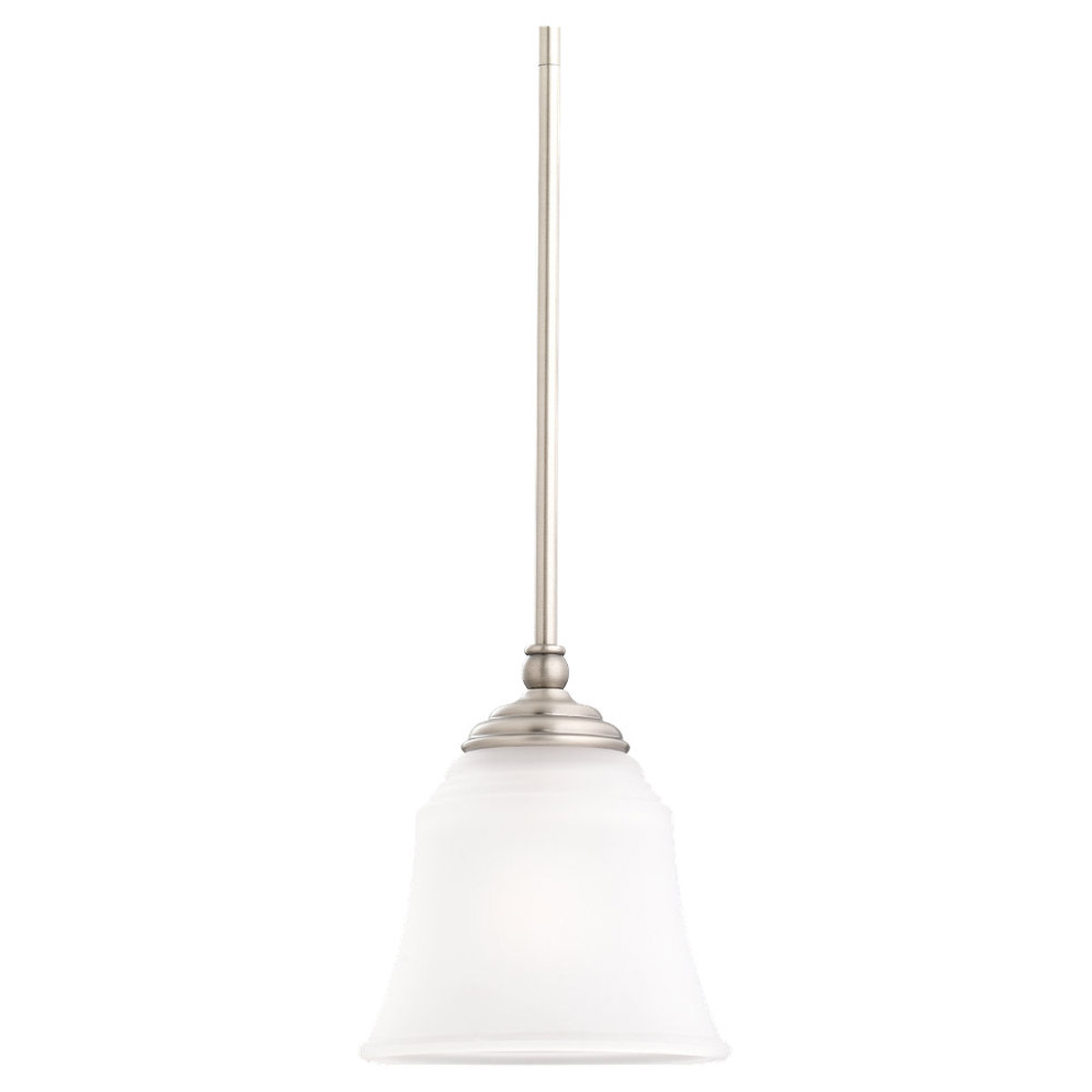 Sea Gull 69380BLE-965 Parkview 1 Light 8 inch Antique Brushed Nickel Mini Pendant Ceiling Light in Satin Etched Glass photo