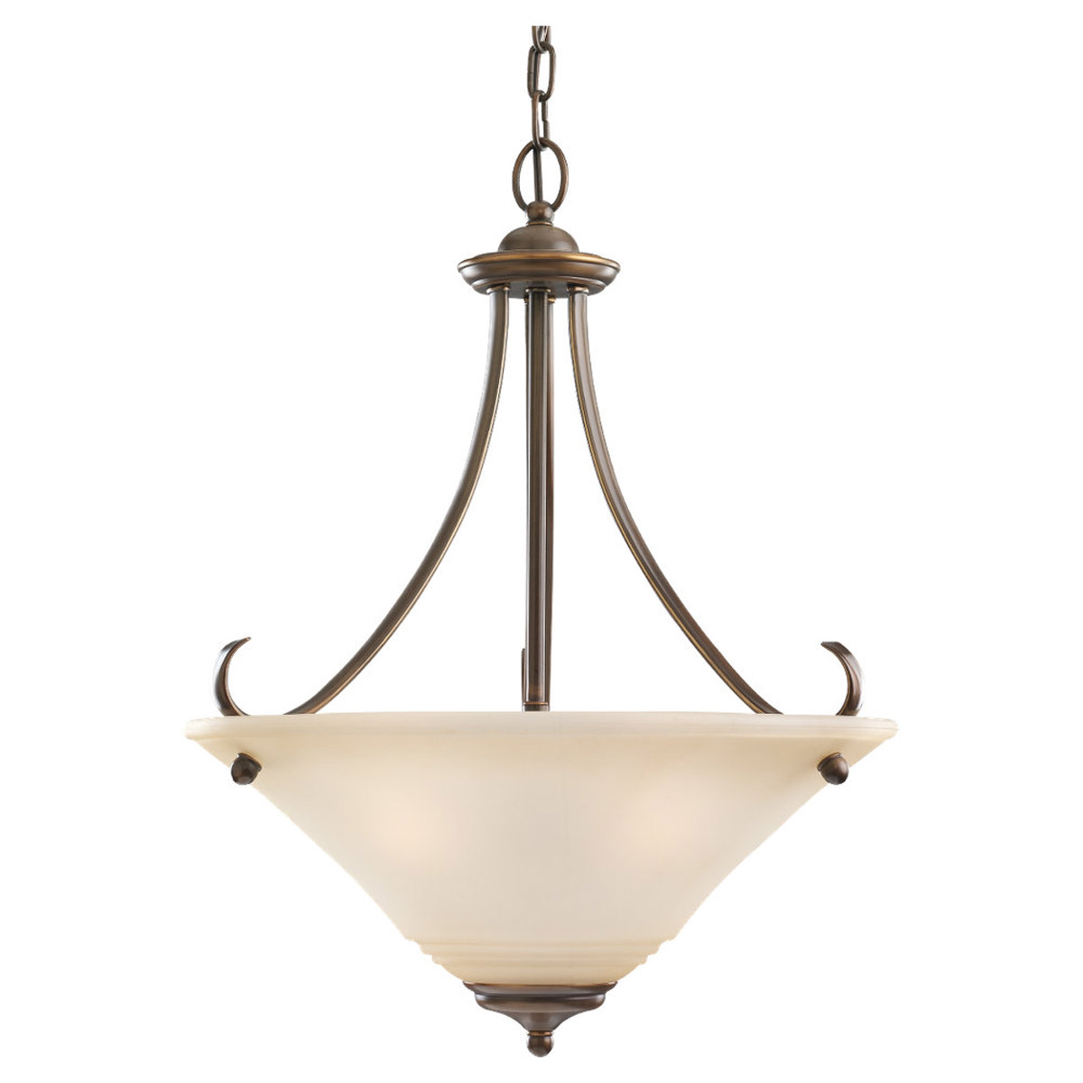 Sea Gull 69381BLE-829 Parkview 3 Light 20 inch Russet Bronze Pendant Ceiling Light in Ginger Glass photo