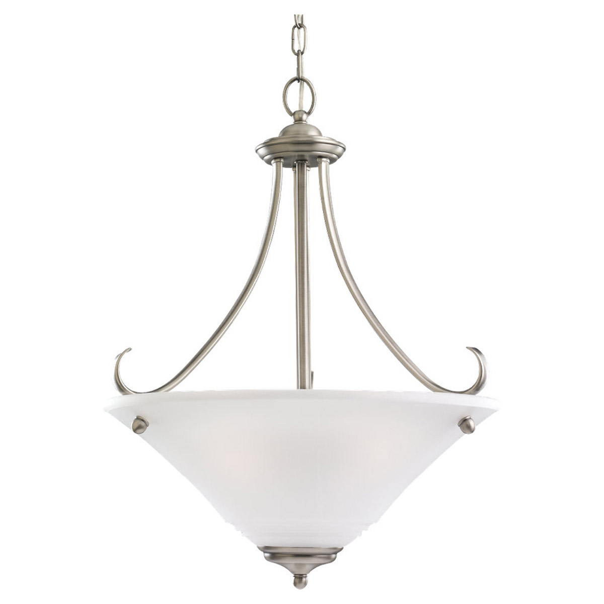 Sea Gull 69381BLE-965 Parkview 3 Light 20 inch Antique Brushed Nickel Pendant Ceiling Light in Satin Etched Glass photo