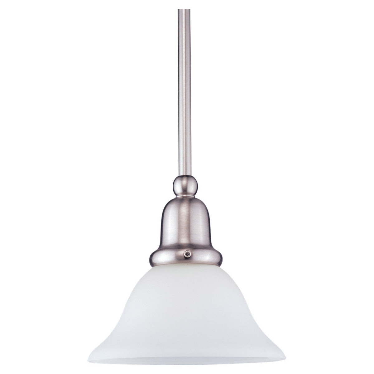 Sea Gull 69459BLE-962 Sussex 1 Light 8 inch Brushed Nickel Mini Pendant Ceiling Light in Satin White Glass photo