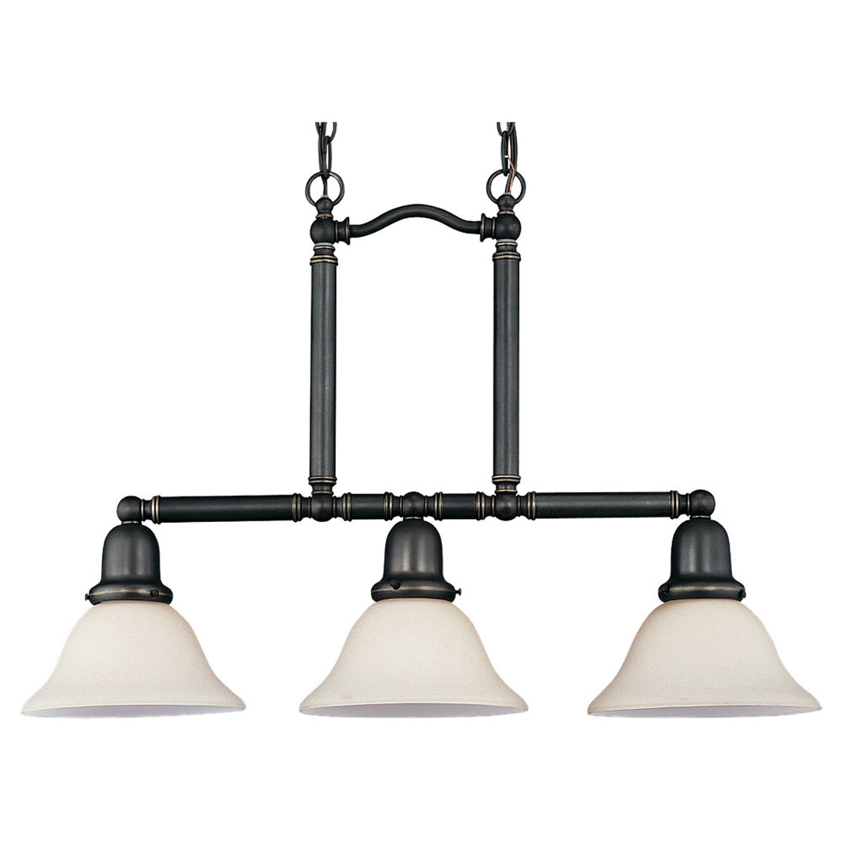 Sea Gull Lighting Sussex 3 Light Pendant in Heirloom Bronze 69460BLE-782
