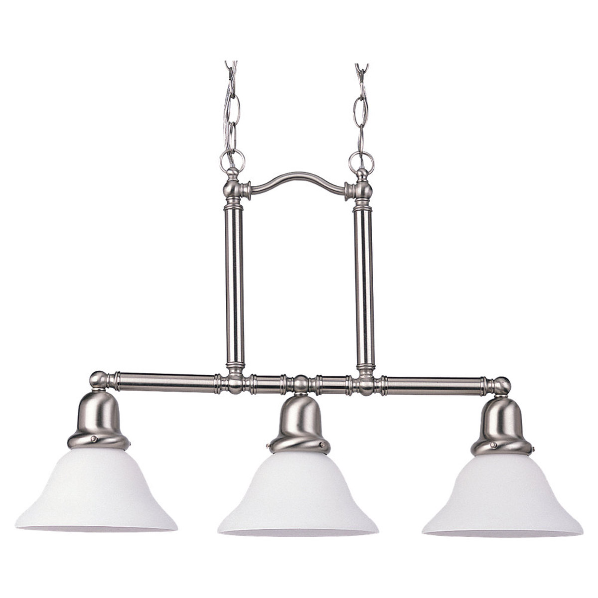 Sea Gull Lighting Sussex 3 Light Pendant in Brushed Nickel 69460BLE-962
