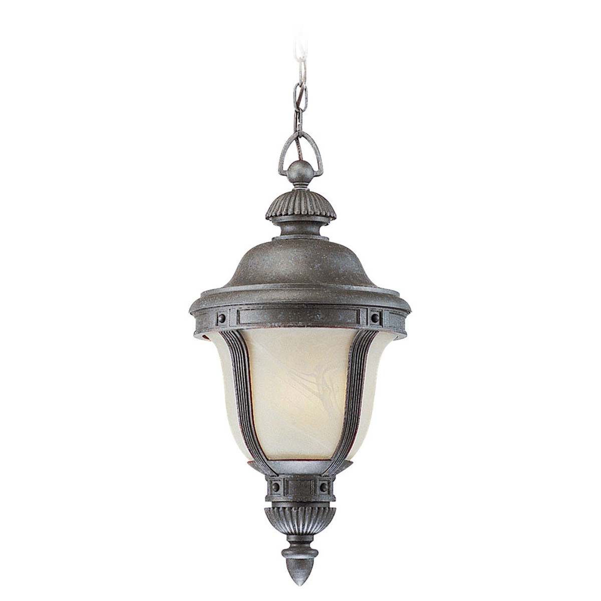 Sea Gull Lighting Winston Court 1 Light Outdoor Pendant in Oxford Bronze 69485PBLE-746