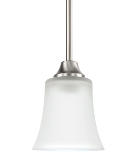 Sea Gull 69806BLE-962 Holman 1 Light 5 inch Brushed Nickel Mini Pendant Ceiling Light photo